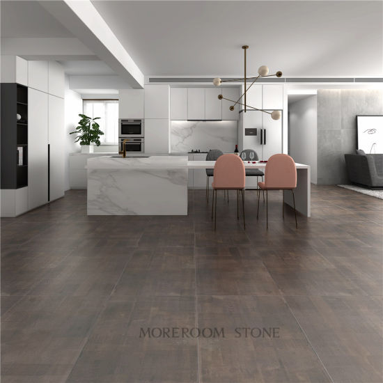 Dark Brown Kitchen Non Slip Matte Ceramic Tiles Floor