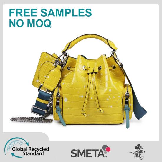 Yellow Handbag Cross-Body Bag with Small Bag