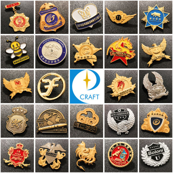 Custom Fashion Promotion Metal Badge Soft Hard Enamel Flag Gold Emblem Silver Flower Logo Zinc Alloy Souvenir Printing Lapel Pin for Promotional Gift No Minimum pictures & photos