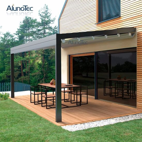 2018 Hot Sale Motorized Retractable Awning with LED