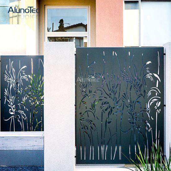 Decorative Cnc Gates Screening Metal Privacy Fence Panels