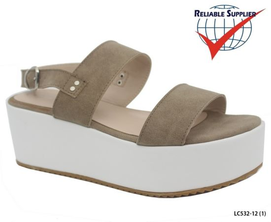 42178ea68f6 Fashion High Platform Women′s Footwear Flat Wedge Sandals Heels Shoes