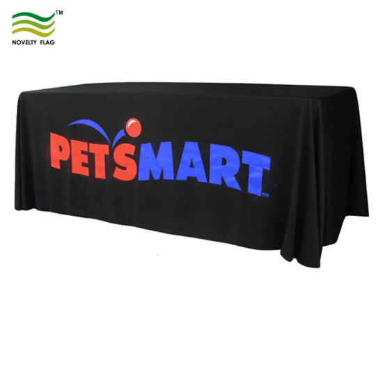 Customized Rectangular 300d Polyester Tablecloth Table Cover (J-NF18F05003) pictures & photos