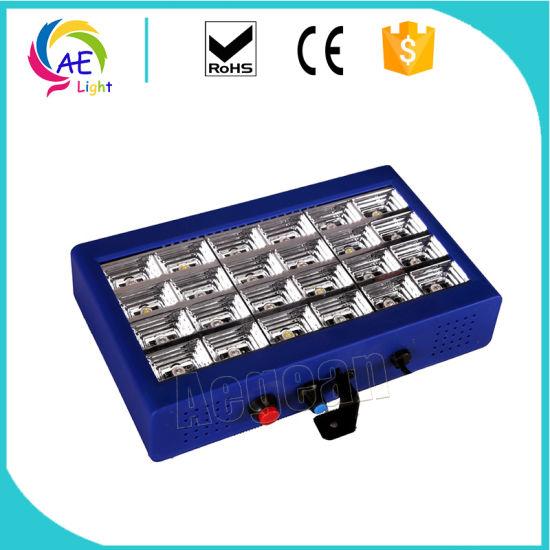 24PCS Full Color 3in1 RGB LED Grille Strobe Light