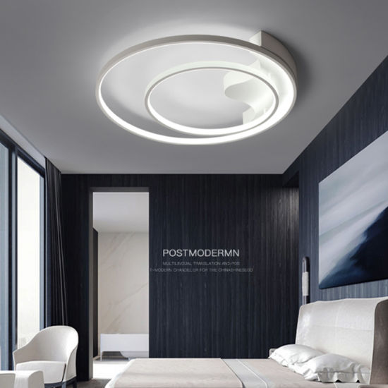 Aluminium Modern Decorative Led Ceiling Lamp Lighting For Living Room And Kitchen With Led Circle 2 Rings