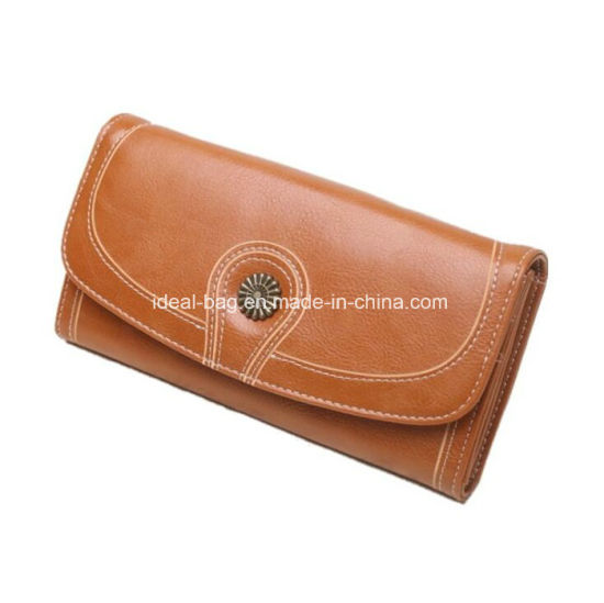Fashion PU Leather Lady Wallet Purse, High Quality Bifold Woman Handbag Clutch Purse Wholesale pictures & photos