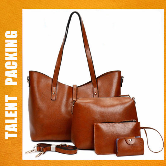 Factory Women Designer Ladies PU Leather 4 PCS Handbag Sets. Get Latest  Price 128783b40fe51