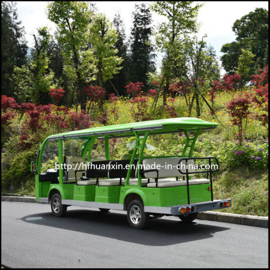 Classic 14 Seater Electric Mini Tourist Bus for Sightseeing
