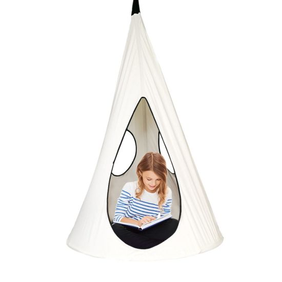 Surprising Kids Nest Swing Chair Nook Hanging Seat Hammock For Indoor Outdoor Use Great For Children All Accessories Included White Creativecarmelina Interior Chair Design Creativecarmelinacom