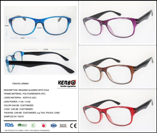 2019 New Fashion Bifocal Reading Glasses with Low Price, Kr9061