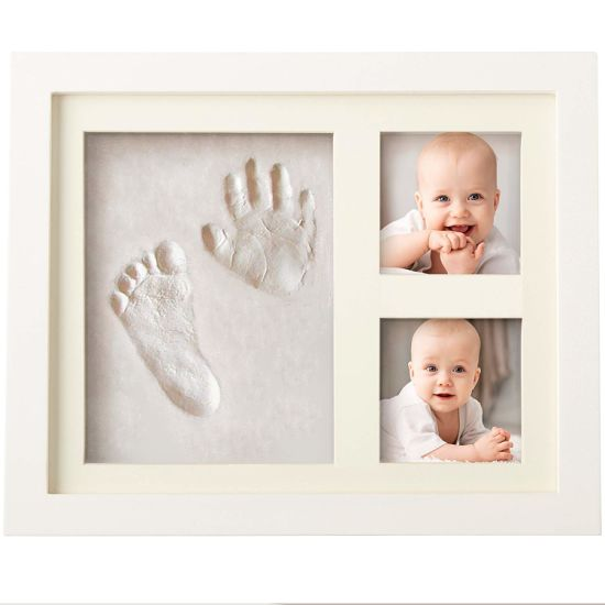 Baby Hand-Print Kit & Footprint Photo Frame for Newborn Girls and Boys