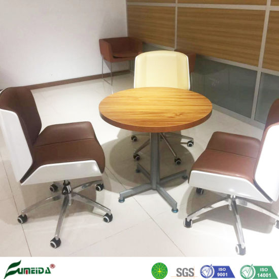 Modern Office MFC Panel Side Interview Desk for Coffee Table