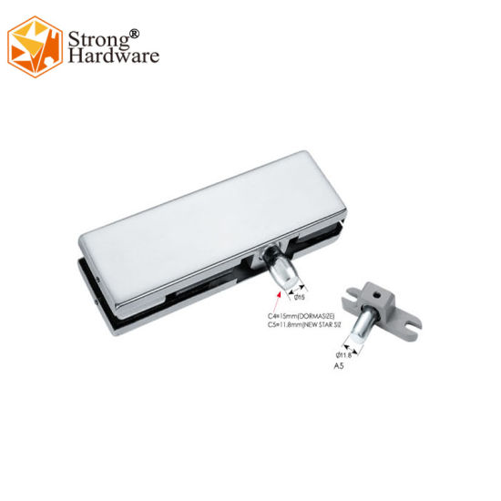 SUS304 Mirror/Chrome Palted Swing Glass Door Top Patch Fitting for Office