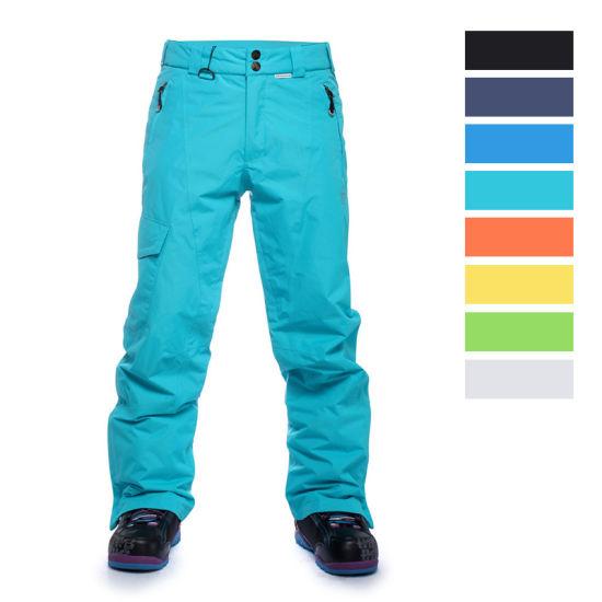 Wholesale Men/Womens Custom Winter Warm Snowboard Pink/Black/Blue/Green/Red/Orange Outdoor Waterproof Snow/Ski Outfit Pants/Trousers