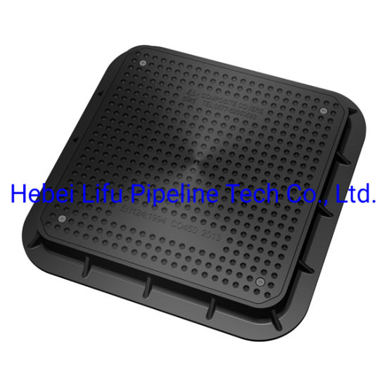 High Quality Waterproof Petrol Station SMC Composite Square Manhole Cover and Frame