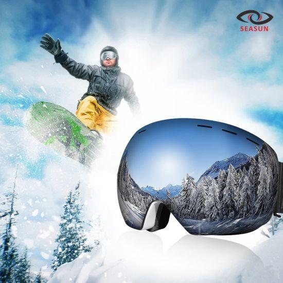 UV400 Anti-Fog Double Lens Ski Goggles Ski Mask Glasses Skiing Snow Snowboard Eyewear Mirror Polarize Goggles