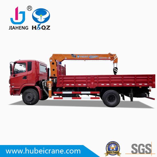 Chinese Factory HBQZ 6.3 Ton Hydraulic Mini Telescopic boom Truck Mounted Crane For building (SQ6.3S3)