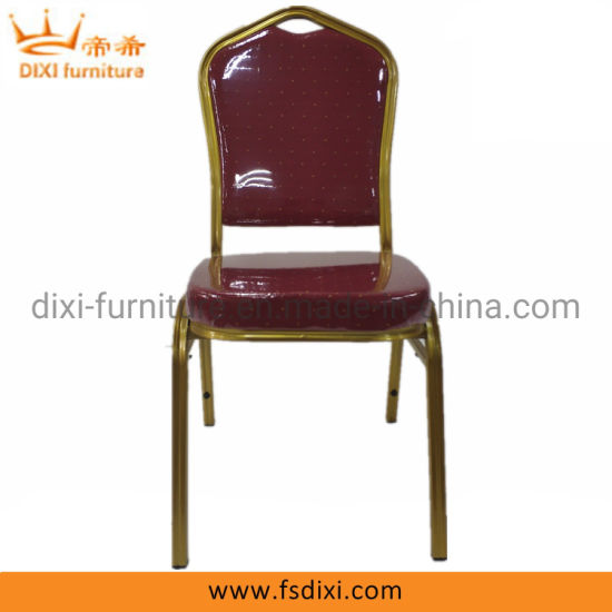 Fancy Rental Used Hotel Cheap Wholesale Stacking Gold Banquet Chair