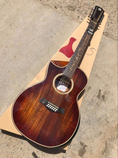 Ksg Music Top Quality Left Handed Handmade 12 String Acoustic Electric  Guitar Lefty 12 String Folk Acoustic Guitar