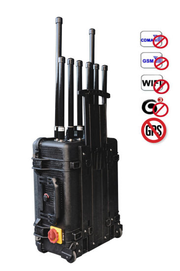 Suitcase High Power Drone / Uav Signal Jammer Signal Blocker pictures & photos