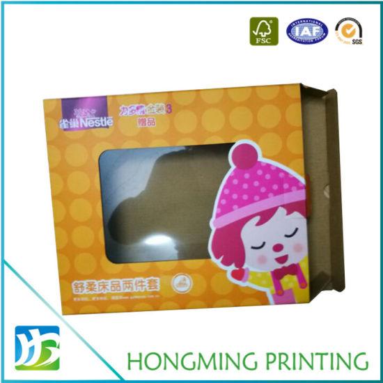 Custom Folding Cardboard Clear PVC Packaging Box
