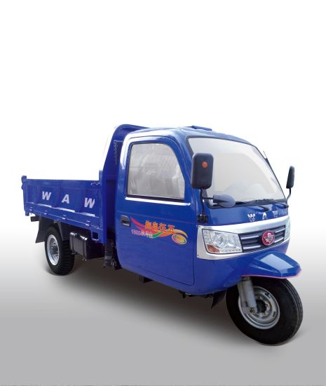 Closed Cargo Diesel Motorized 3-Wheel Passenger Tricycle with Cabin
