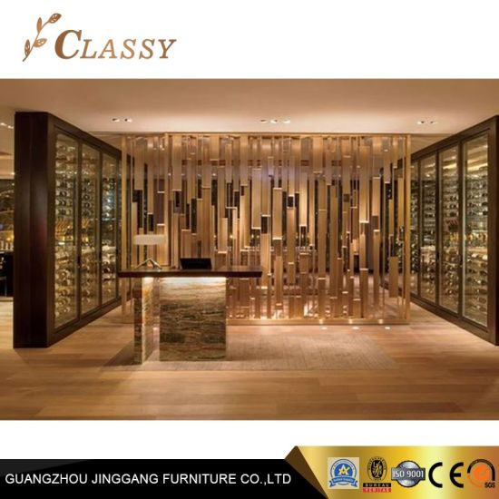 Luxury Design Gold Metal Screen for Hospitality Interior Project