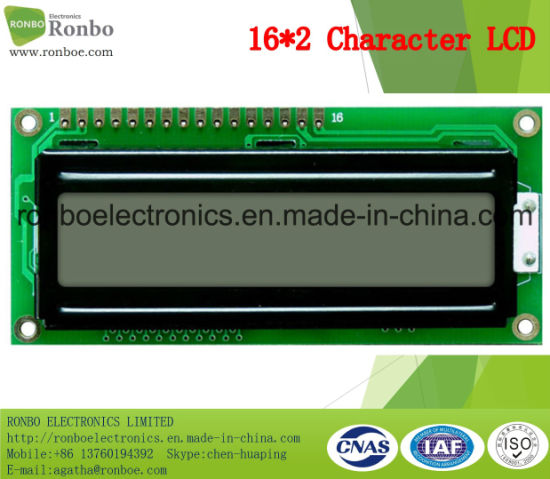 16X2 Character LCD Screen, MCU 8bit, FSTN Gray, FSTN LCD Panel, COB LCM pictures & photos