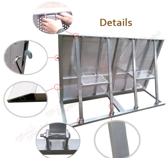 Aluminum Concert Crowd Control Barriers with Lock pictures & photos