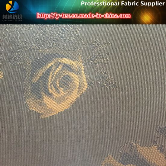 Jacquard Flower. Polyester Jacquard in Twill Taffeta for Garment Lining (10) pictures & photos