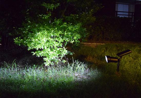 Bright 2w Aluminium Led Solar Spotlight, Outdoor Spot Lights Garden