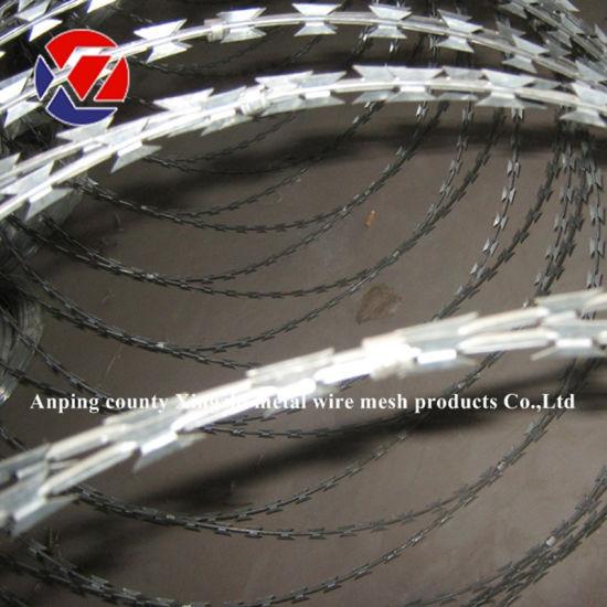 Bto-22 Galvanized Concertina Razor Barbed Wire
