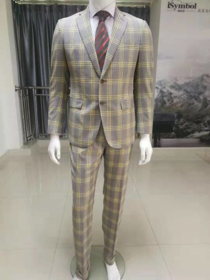 2019 High Quality Popular Men's Suit in Check (WL2019)