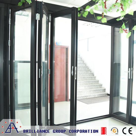 China Folding Door With Glass Door China Sliding Door Exterior Door