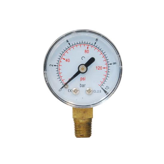 "40mm 1.5"" Plastic Case 10 Bar Pressure Gauge"