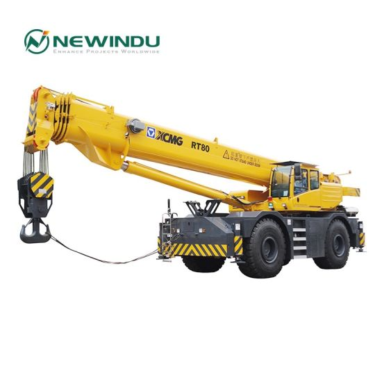 80ton Rt80 Construction Hoist Tower Truck Crawler Mobile Crane pictures & photos