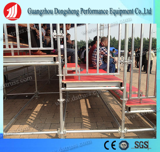 Portable Grandstand Steel Structure Aluminum Bleachers Seating with Aluminum Alloy Truss pictures & photos