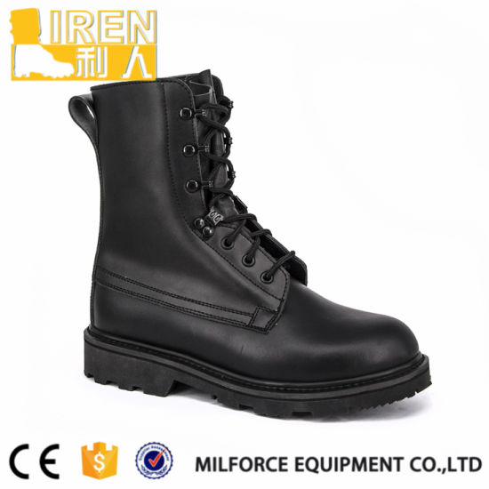 China Factory Price Men Leather Combat Military Boots - China Combat ... 8e6f73b4b53