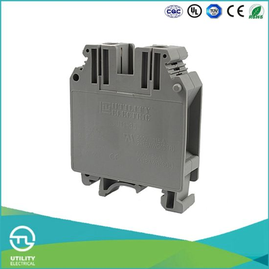 china jut1-35 35mm screw electrical terminal blocks connector ...  utility electrical co., ltd.