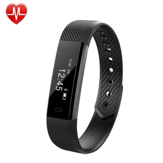 ID115 Heart Rate Bluetooth Fitness Tracker Smart Watch Wristbands Bracelet