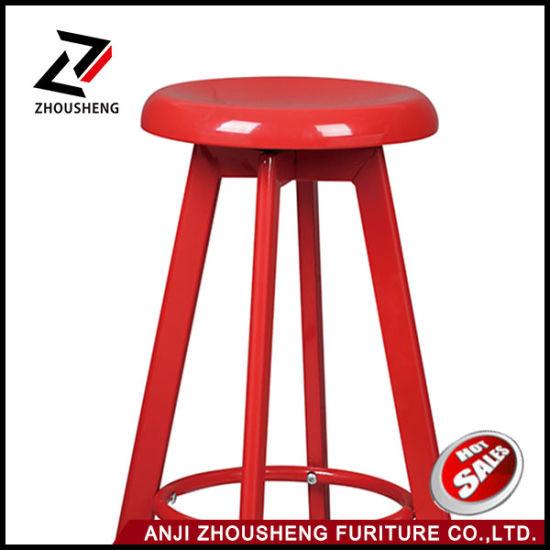 Fantastic China Simple New Design Round Seat Adjustable Vintage Metal Inzonedesignstudio Interior Chair Design Inzonedesignstudiocom