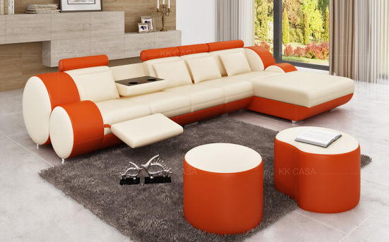 Surprising Italian Leather U Shape Corner Sofa Modern Furniture Luxury White Caraccident5 Cool Chair Designs And Ideas Caraccident5Info