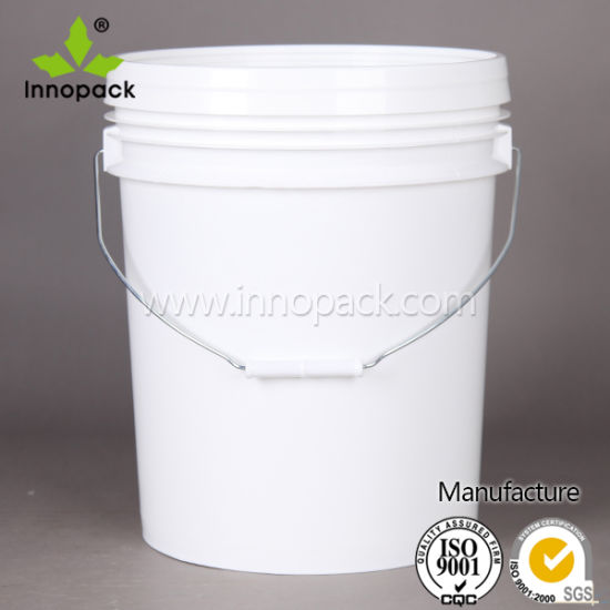 5 Gallon Plastic Paint Pail with Lid and Handle