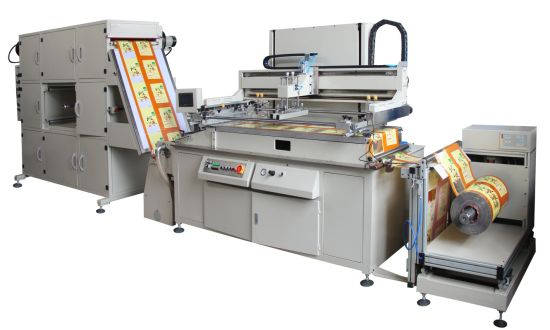 HYB512 Seamless Series Roll to Roll Screen Printing Machine for Stickers