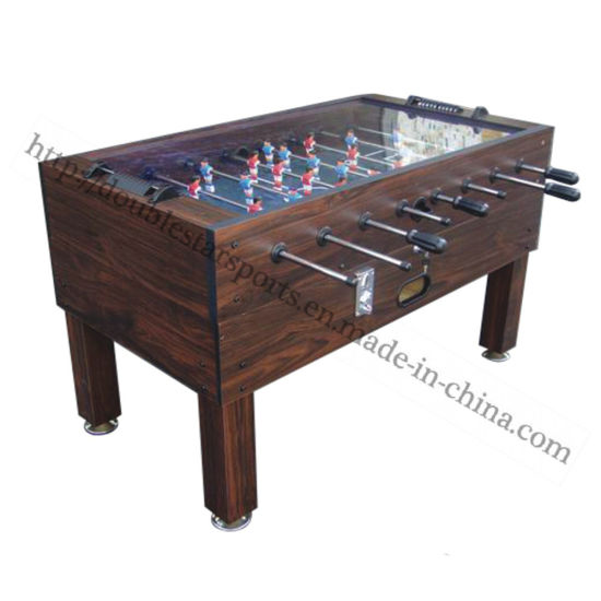 China Coin Operated MDF Soccer Pool Table Football Table Set China - Kickball pool table