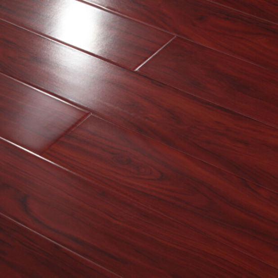 Red Color High Gloss Laminate Flooring with Glossy Surface pictures & photos