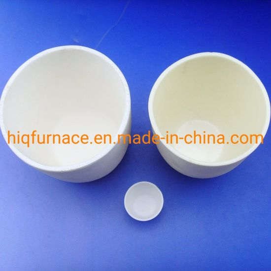 High Temperature Alumina Combustion Ceramic Crucible Alumina Ceramic Crucible Product,Low Price Al2O3 Ceramic Crucible/Alumina Melting Ceramic Crucible with Lid