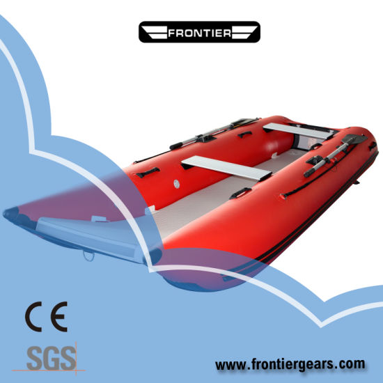 Red Color 4.3m Inflatable Catamaran High Speed Boats
