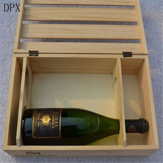 Packaging Box Storage Box 2 Bottles Wooden Wine Gift Box for Wholesale