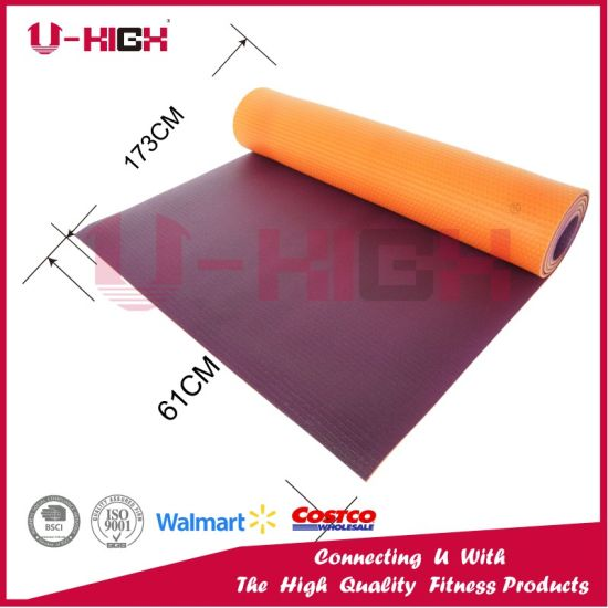 High Density PVC Yoga Mat Pilates Mat Basic Style Exercise pictures & photos